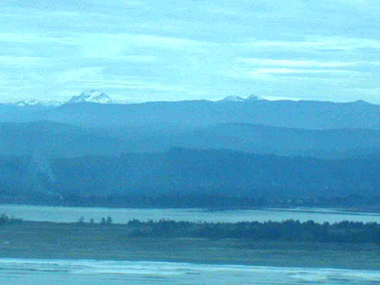 view of mountains inland